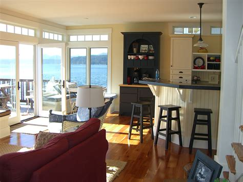 kitchen living room combo rooms and description the cabin on hood canal