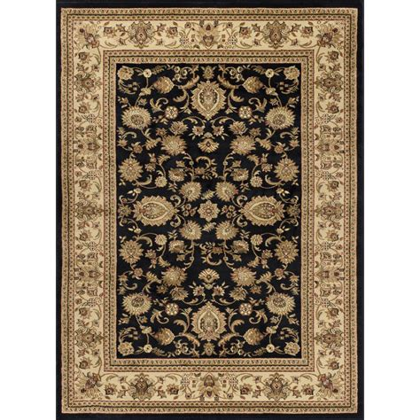Tayse Rugs Sensation Black 8 Ft 9 In X 12 Ft 3 In Area Rugs Home Depot