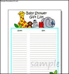 baby shower gift list template free baby shower gift list template baby shower gift list list template 180 free sample example format download