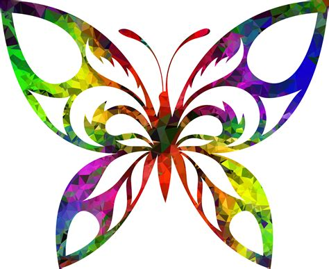 clipart multispectral tribal butterfly silhouette