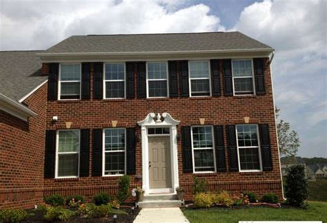 Shutters On Brick House by Berkshire Brick With Black Shutters New Home Ideas
