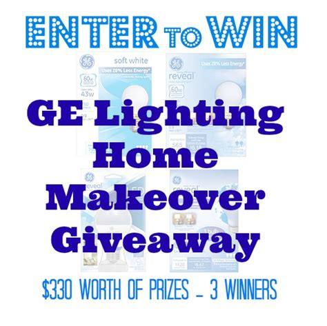 Home Makeover Giveaways 2015 - enter to win the ge lighting home makeover giveaway 330 worth of prizes my momma