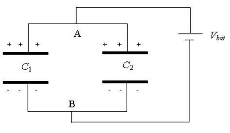 capacitors in parallel with battery series and parallel capacitors