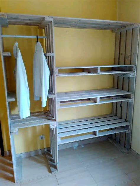 pallet closet wardrobe made from pallets 99 pallets