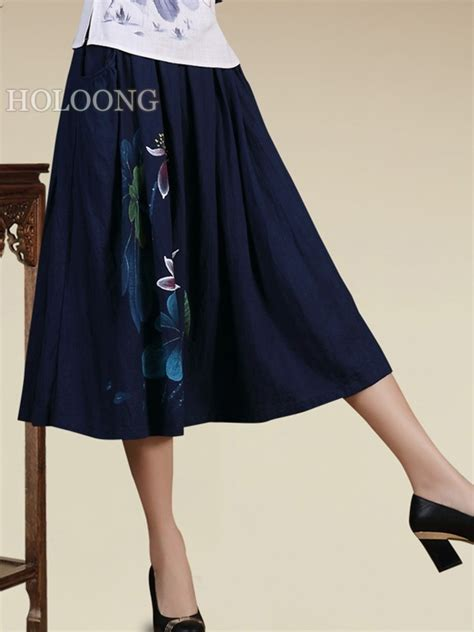 button summer ethnic a line skirts us 142 00