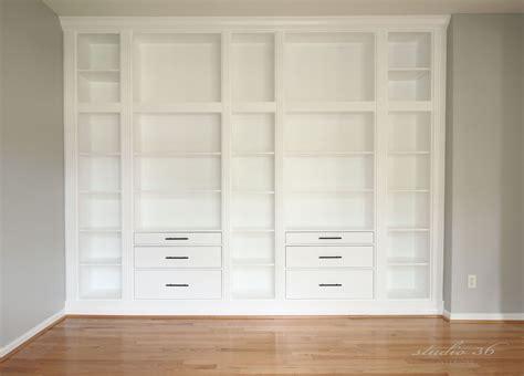 ikea bookcase built in hack builtin fin2 wat living rooms pinterest ikea hack