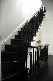black painted stairs on black stairs black