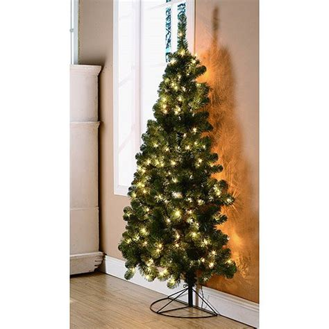 corner christmas tree 6 ft pre lit rockport half corner tree buy in uae kitchen products in the