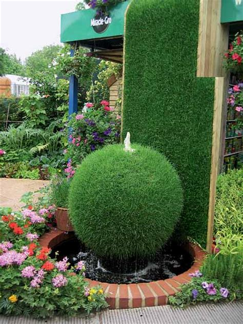 Diy Design Outdoor Fountains Ideas Backyard Flower Garden Ideas Photograph Green Bush Garden