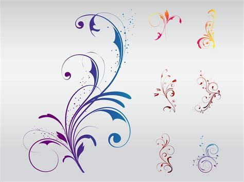 design vector online image gallery swirly flowers
