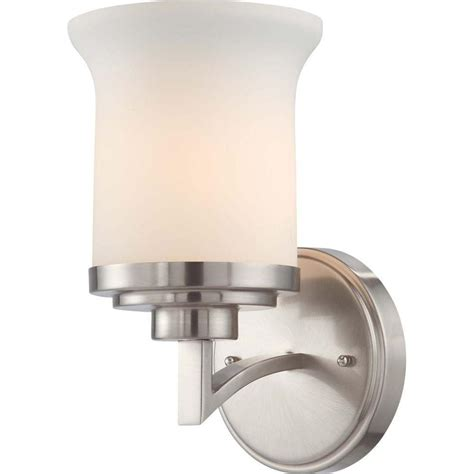 brushed nickel 4 light vanity good lumens by madison avenue 4 light brushed nickel led