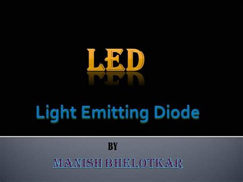 light emitting diode authorstream
