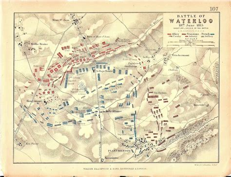 battle of waterloo map map battle of waterloo 18 june 1815 crisis of the