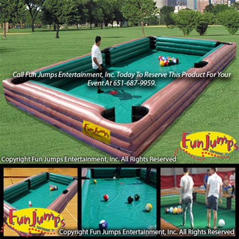 pool table repair mn human pool table human pool table soccer jump and slide
