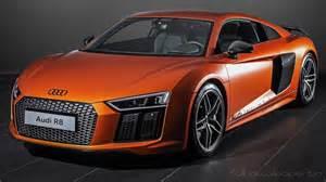 Audi R8 V10 Orange Audi R8 V10 2015 Orange Hd Wallpapers