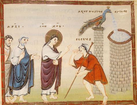 Jesus Healing Blind File Codexegberti Fol050 Healingofthemanbornblind Jpg