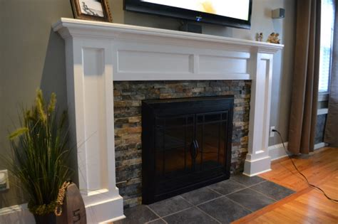 fireplace facades on fireplace mantels
