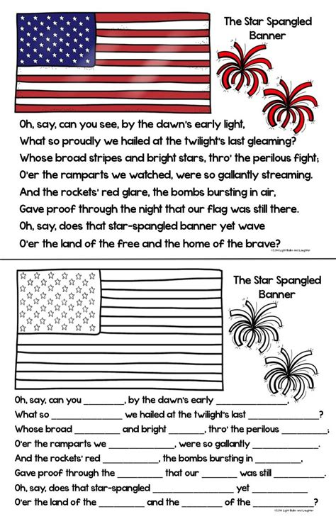 coloring page of the star spangled banner pin by kathy haney bunnell on social studies pinterest