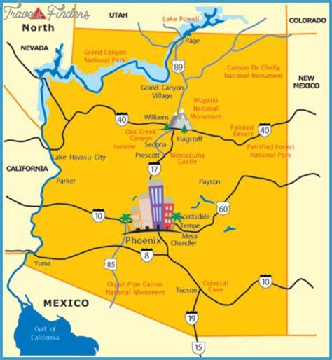 where is arizona on the arizona map scottsdale map tourist attractions travel map