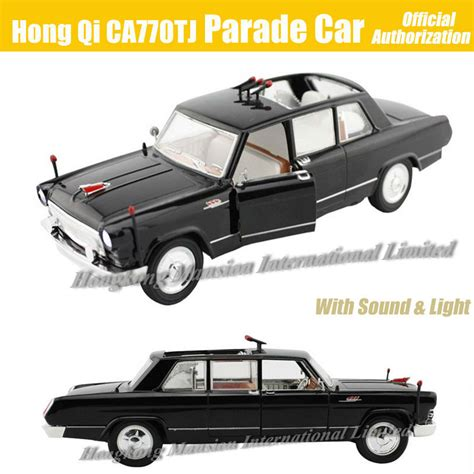 Diecast California Skala 1 32 1 32 scale diecast alloy metal car model for hong qi ca770tj parade car collection model pull