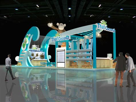 booth design thailand thai coconut booth at thai fex 2013 proposed on behance