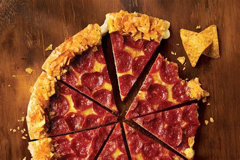 domino pizza queanbeyan foodgeek review pizza hut s doritos crunchy crust