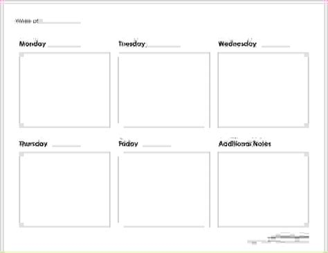 5 day week calendar template 7 5 day calendar template memo formats