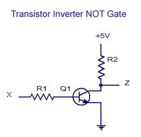 pnp transistor and gate transistor inverter logic