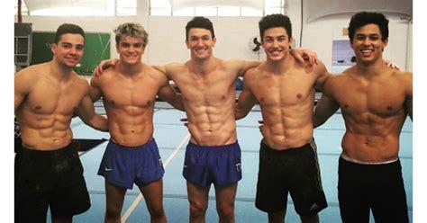 brazils hot mens gymnastics team video popsugar