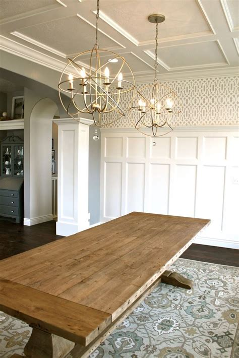 Ceiling Light Dining Room Add Personality To Your Interior With A Coffered Ceiling