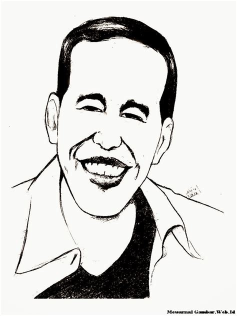 wallpaper kartun hitam mewarnai gambar karikatur jokowi mewarnai gambar