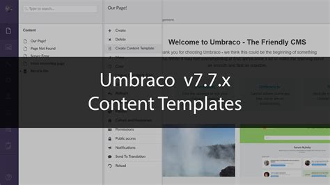 templates for umbraco cms content templates umbraco 7 7 x youtube