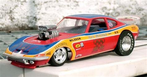 Opel Gt Drag Car by Opel Gt Gasser Slot Car Drag Racing Model Cars