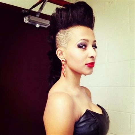 mohawk with designs on the side half shaved hair half shaved and shaved hair on pinterest