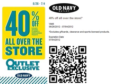 old navy coupons phone old navy outlet 40 off printable coupon