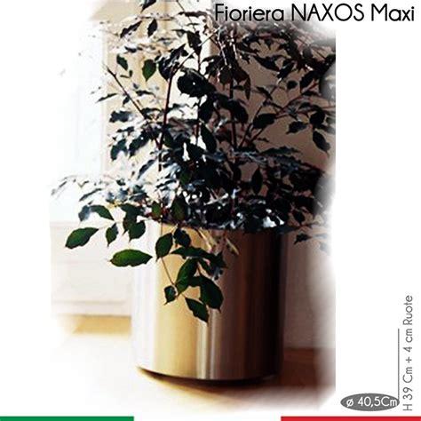 fioriere con ruote fioriera con ruote naxos maxi diametro 40 5xh43 cm l 49