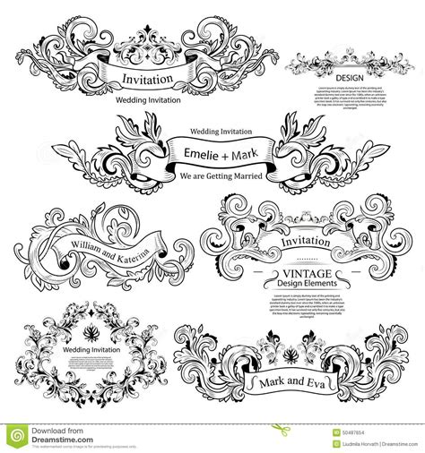 wedding invitation ornaments vector wedding invitation ornaments vector choice image invitation sle and invitation design