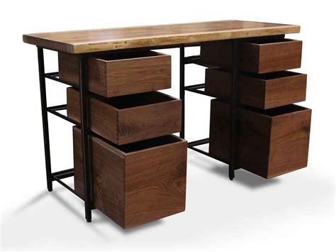 live edge desk with drawers handmade live edge walnut desk with storage drawers olde