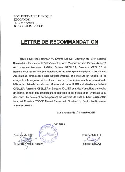 Lettre De Recommandation Template Letter Of Recommendation Template For Teaching Letter Of Intent Sle To Apply For A