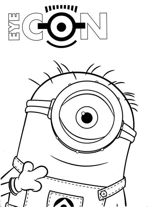 minion carl coloring page dibujos para colorear de los minions pintar e imprimir