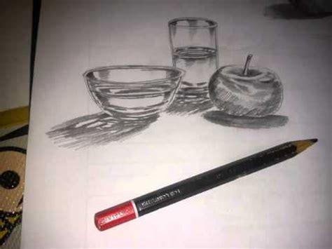 Gelas Apel by Gambar Gelas Kaca Dan Apel Dengan Arsiran Pensil