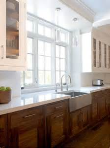 attractive White Kitchen Cabinets Black Hardware #5: wood-and-white-kitchen.jpg
