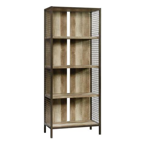 sauder carson forge lintel oak 4 shelf bookcase 422134