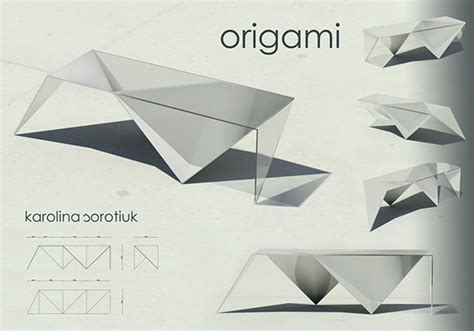 origami commercial origami table on behance
