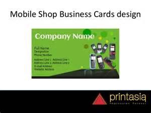mobile shop business card order mobile shop visiting cards