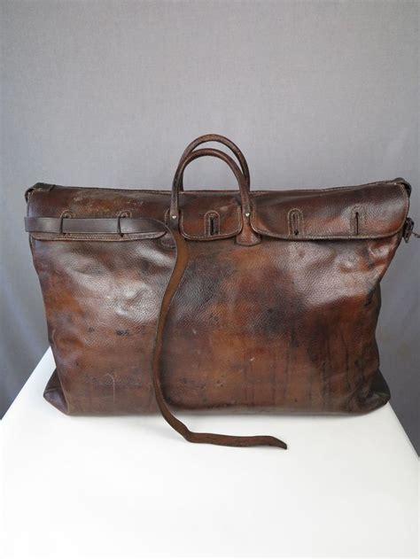 Travel Bag Hypervenon 8 valise antique bag vtg leather gladstone 1920s travel bag vtg leather holdall exploration