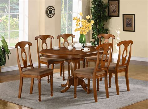 Kitchen Dining Room Table And Chairs 5 Pc Oval Dinette Dining Room Set Table And 4 Chairs Ebay