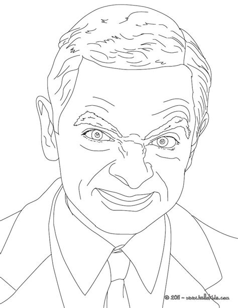 Mr Bean Coloring Pages Hellokids Com Mr Bean Colouring Pages