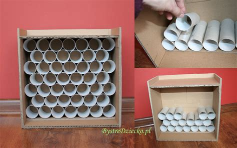 Garage Paper Roll by Car Garage Made From Toilet Rolls And Cardboard Boxes