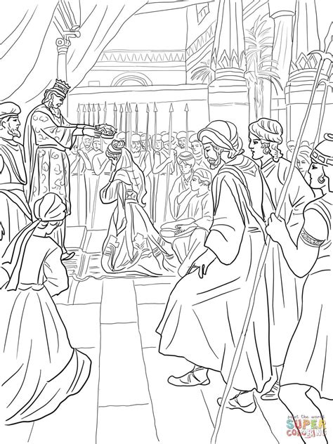 Coloring Page Esther by Esther Wordt Een Koningin Coloring Biblical